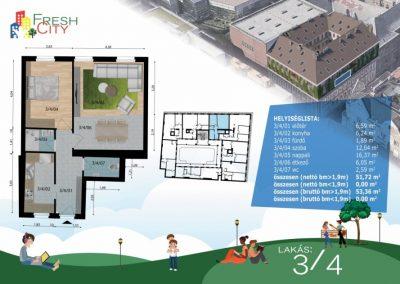 Amerikai konyhás lakás, 53 m2, 48.9M Ft