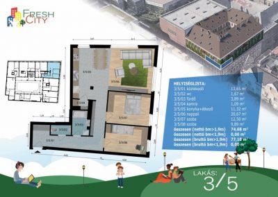 Amerikai konyhás lakás, 77 m2, 69.9M Ft