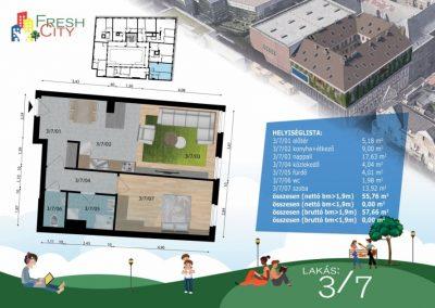 Amerikai konyhás lakás, 58 m2, 53.9M Ft