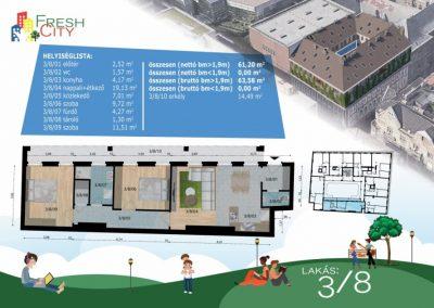 Erkélyes lakás, 71 m2, 64.9M Ft