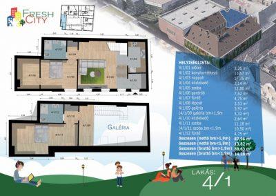 Galériás lakás, 97 m2, 89.9M Ft