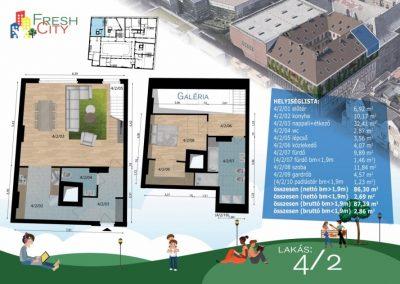 Galériás lakás, 89 m2, 84.9M Ft