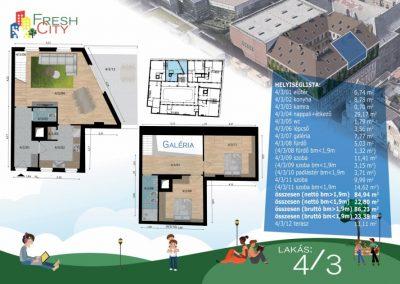 Galériás, erkélyes lakás, 104 m2, 99.9M Ft