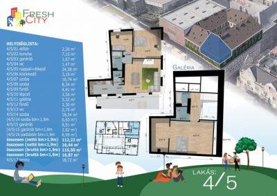 Galériás, erkélyes lakás 133 m2, 119.9 M Ft