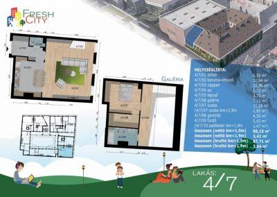 Galériás lakás, 90 m2, 83.9M Ft