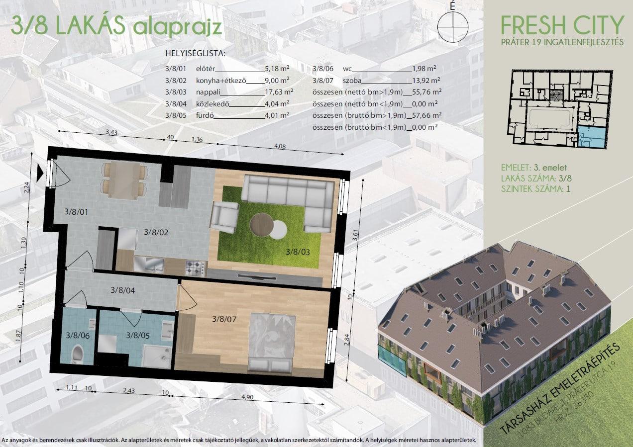 3.8 FreshCity új lakások